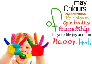 Happy Holi greetings card 2014