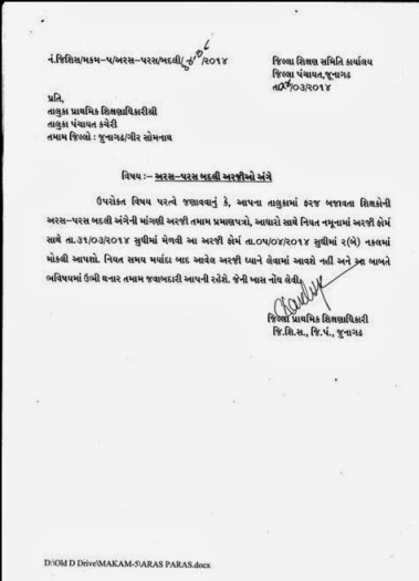 Junaghadh Aras Paras Badli Application 2014