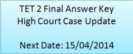 TET 2 Final Answer Key High Court Case Update