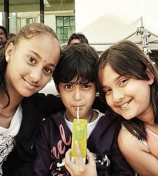 Saiee Manjrekar Childhood Photo