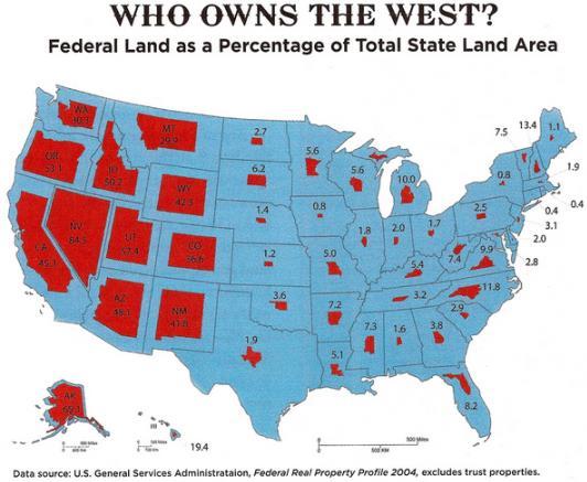 Federal-land-ownership-USA