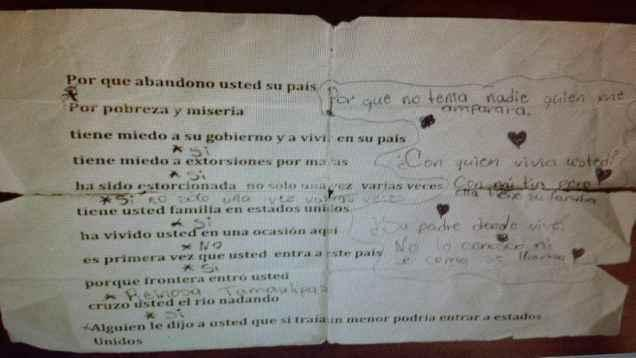"""A """"cheat sheet"""" discovered near the U.S.-Mexico border  (photo obtained by TheBlaze)"""