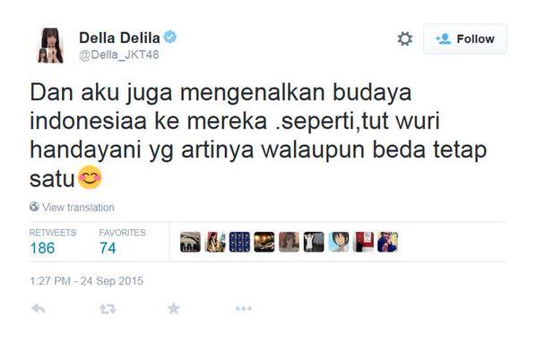 Twit Della JKT 48 via twitter.com