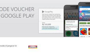kode voucher google play indomaret