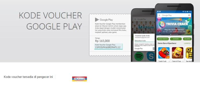 kode voucher google play indomaret
