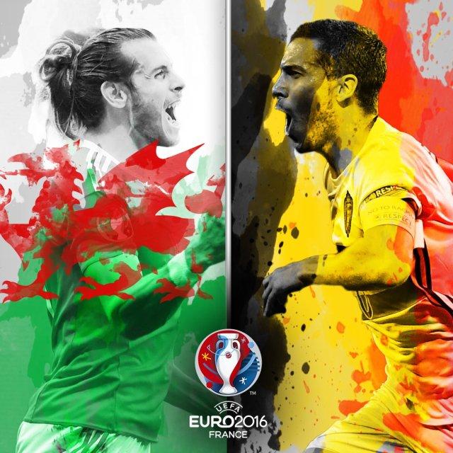 Gambar Pertandingan Wales vs Belgia Euro 2016