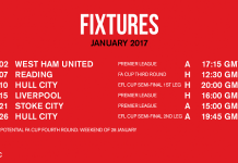 jadwal pertandingan Manchester United Januari 2017