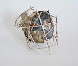 The tower of infinity II 2015 Oxidized silver, 6x7x6 cm