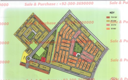 Gulberg Residencia Block A Executive MAp