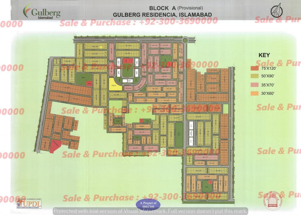 Gulberg Residencia Block A Map