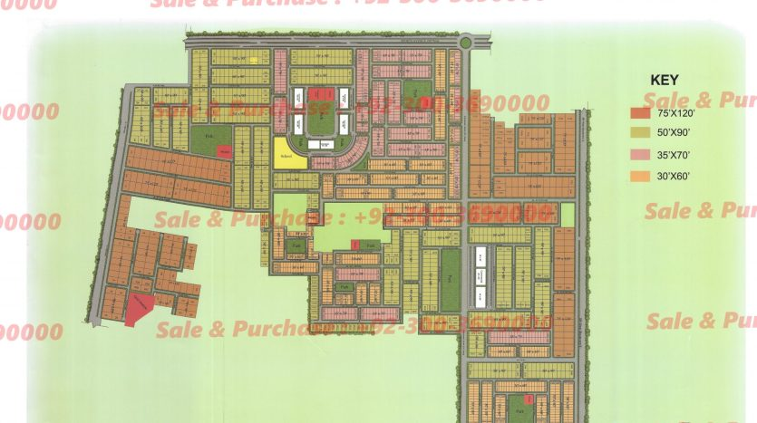 Gulberg Residencia Block A Map