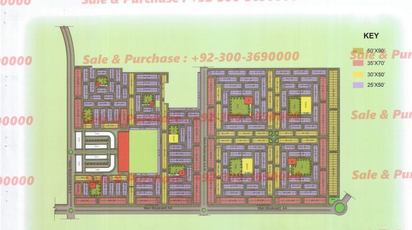 Gulberg Residencia Block AA MAp