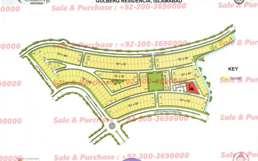 Gulberg Residencia Block E Map