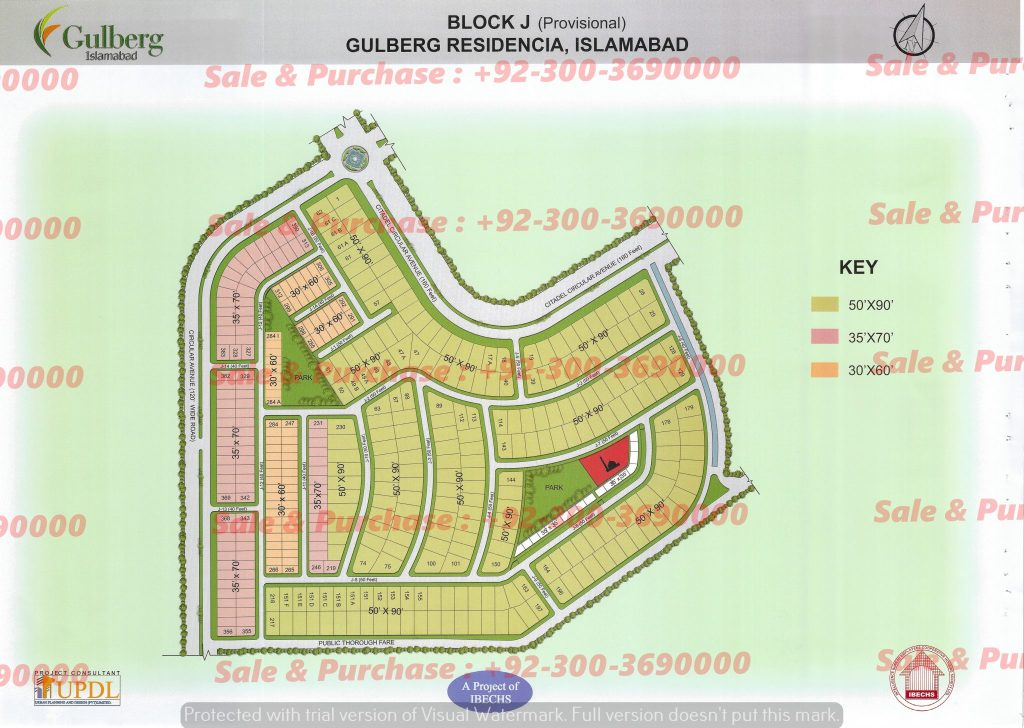 Gulberg Residencia Block J Map
