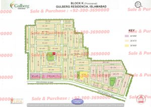 Gulberg Residencia Block K Map