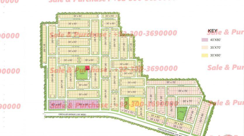 Gulberg Residencia Block K Map