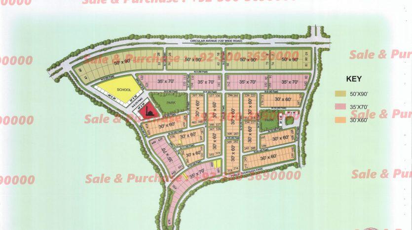 Gulberg Residencia Block N Map
