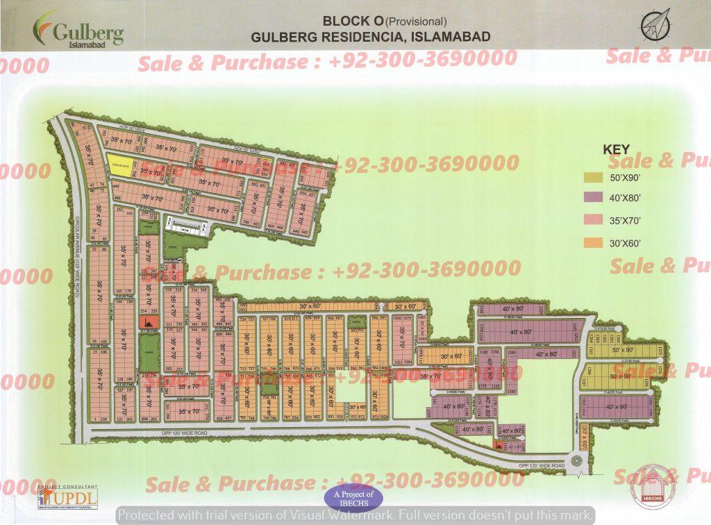 Gulberg Residencia Block O Map