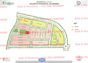 Gulberg Residencia Block Q Map