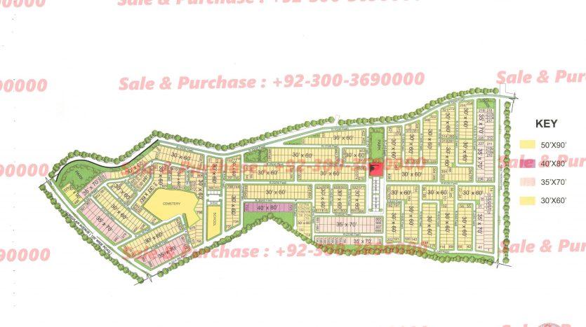 Gulberg Residencia Block R Map