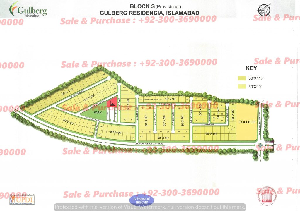 Gulberg Residencia Block S Map