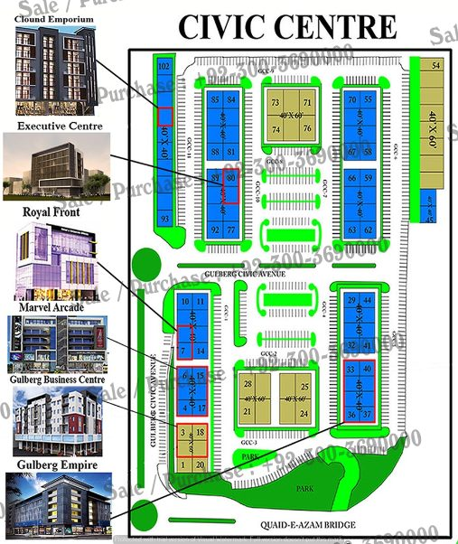 Civic Center Commercial , Gulberg Greens Islamabad