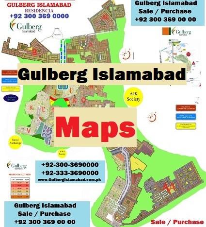 Gulberg Islamabad Maps