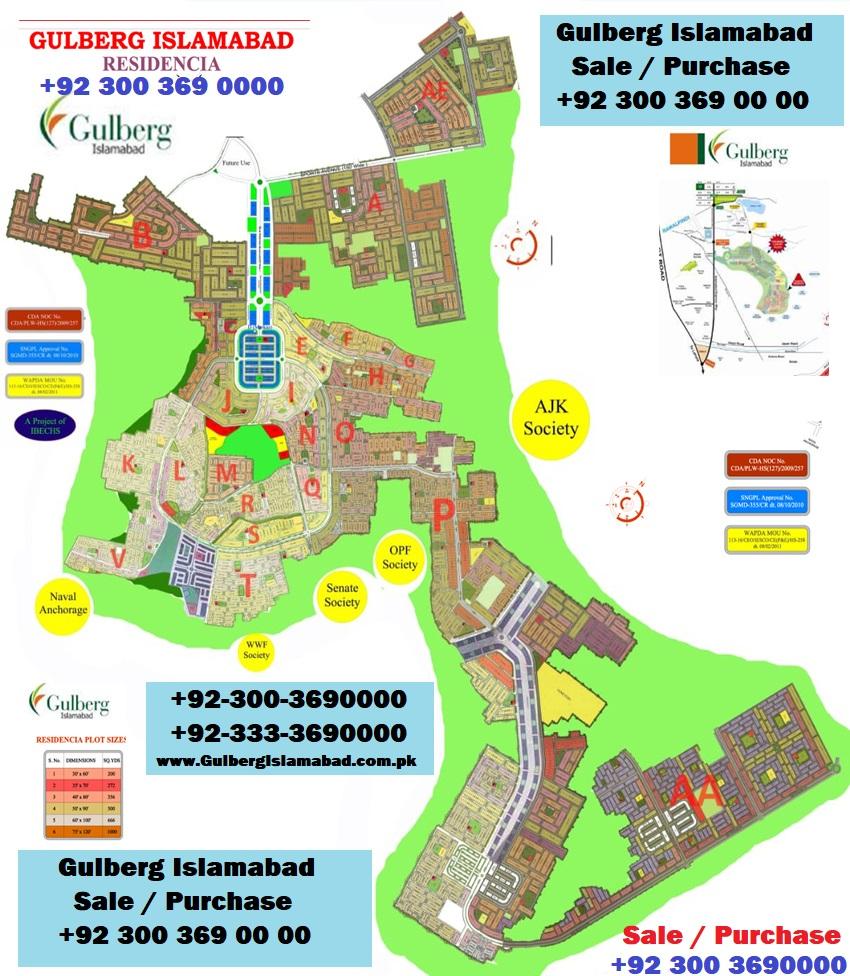 Gulberg Residencia Islamabad Master Plan