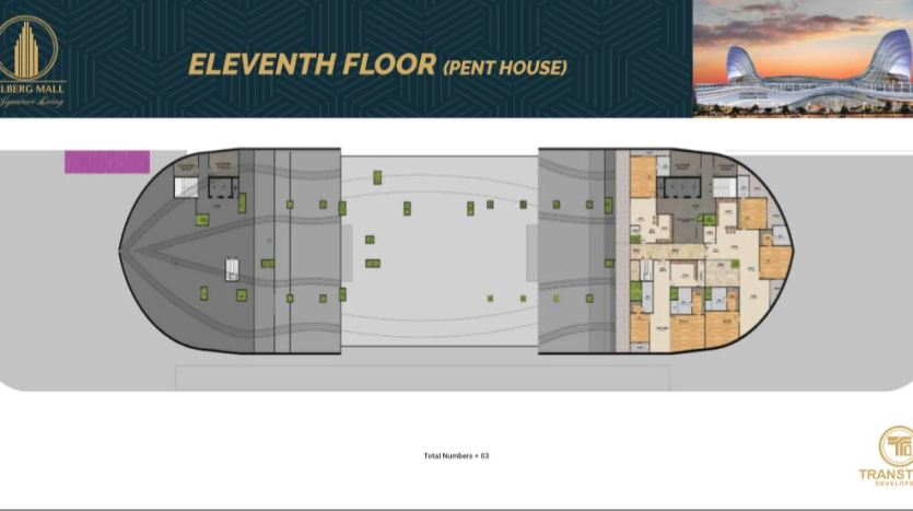 Gulberg Mall Eleventh Floor Plan