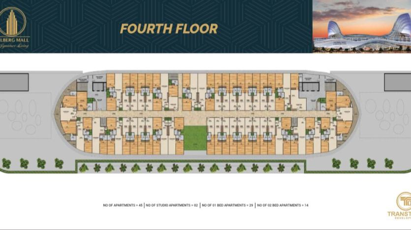 Gulberg Mall Fourth Floor Plan