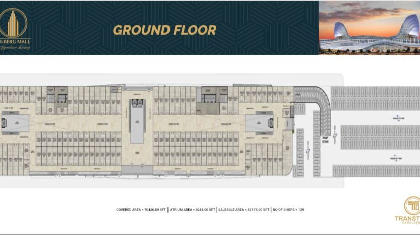 Gulberg Mall Ground Floor Plan