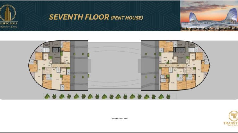 Gulberg Mall Seventh Floor Plan