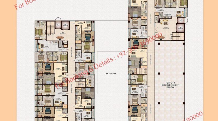 D 8 heights Gulberg 3rd floor plan