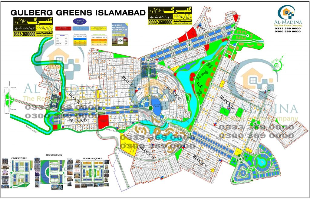 Gulberg Greens Islamabad New Map