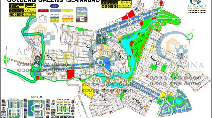 Gulberg Greens Islamabad New Map