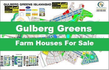 farmhouses for sale in Gulberg greens Islamabad