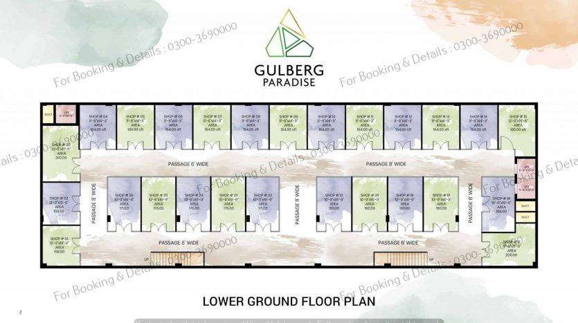 Lower Ground Floor Plan Gulberg Paradise