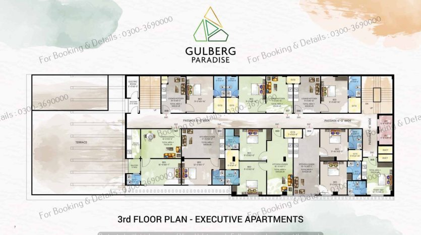 3rd floor executive apartments gulberg paradise