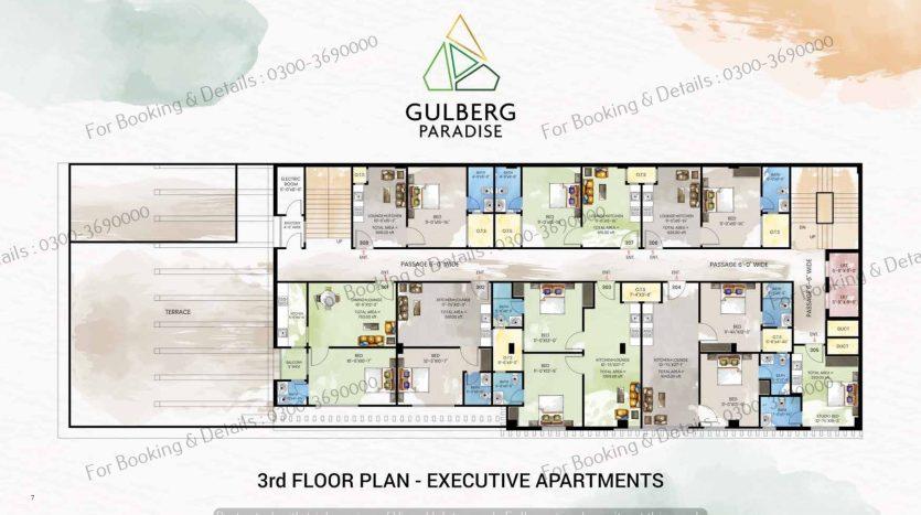 3rd floor executive apartments gulberg paradise