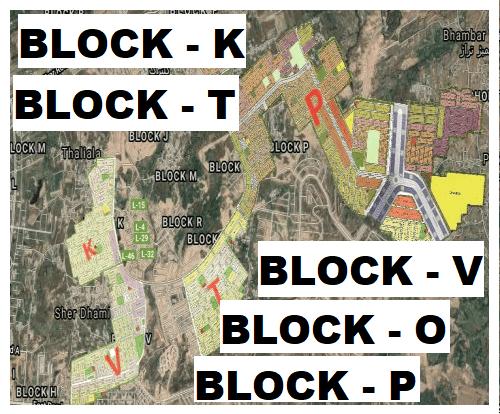 Gulberg residencia Block K,TV,O,P Map