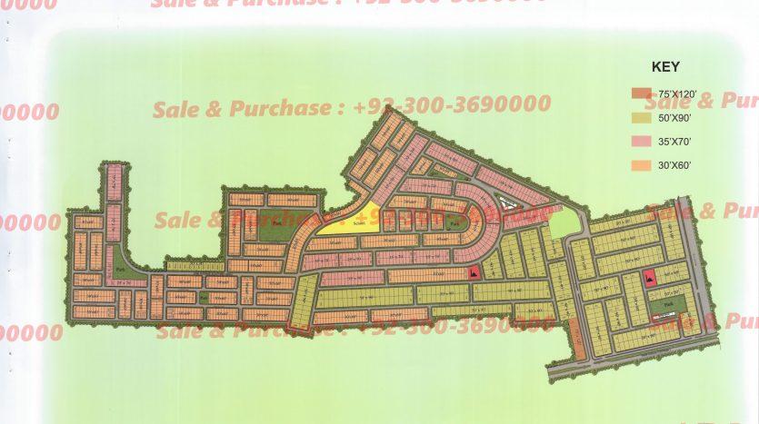 Gulberg Residencia Block B Map