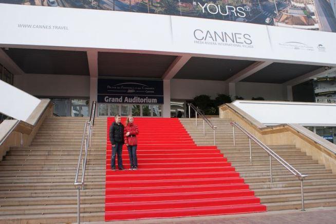 På den røde løber i Cannes