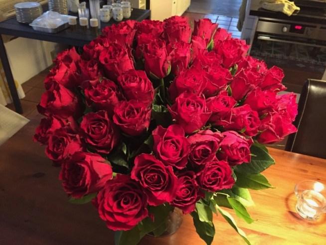 Buket røde roser
