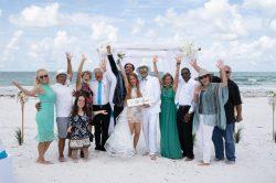 célébration de mariage à la plage