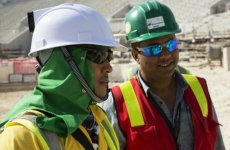 Qatar to introduce cooling helmets for workers at 2022 World Cup sites