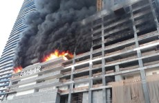 Fire breaks out at building near Dubai Mall