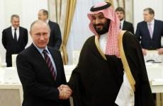 Russia's Putin meets Saudi prince, hails partnership on oil, Syria