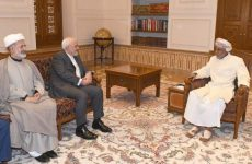 In rare official appearance, Oman's ruler meets Iranian minister