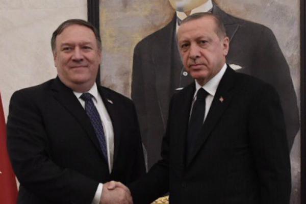 Image result for pompeo, Erdogan, photos