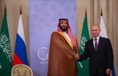 Saudi Crown Prince meets Russia's Putin, discusses oil market rebalancing